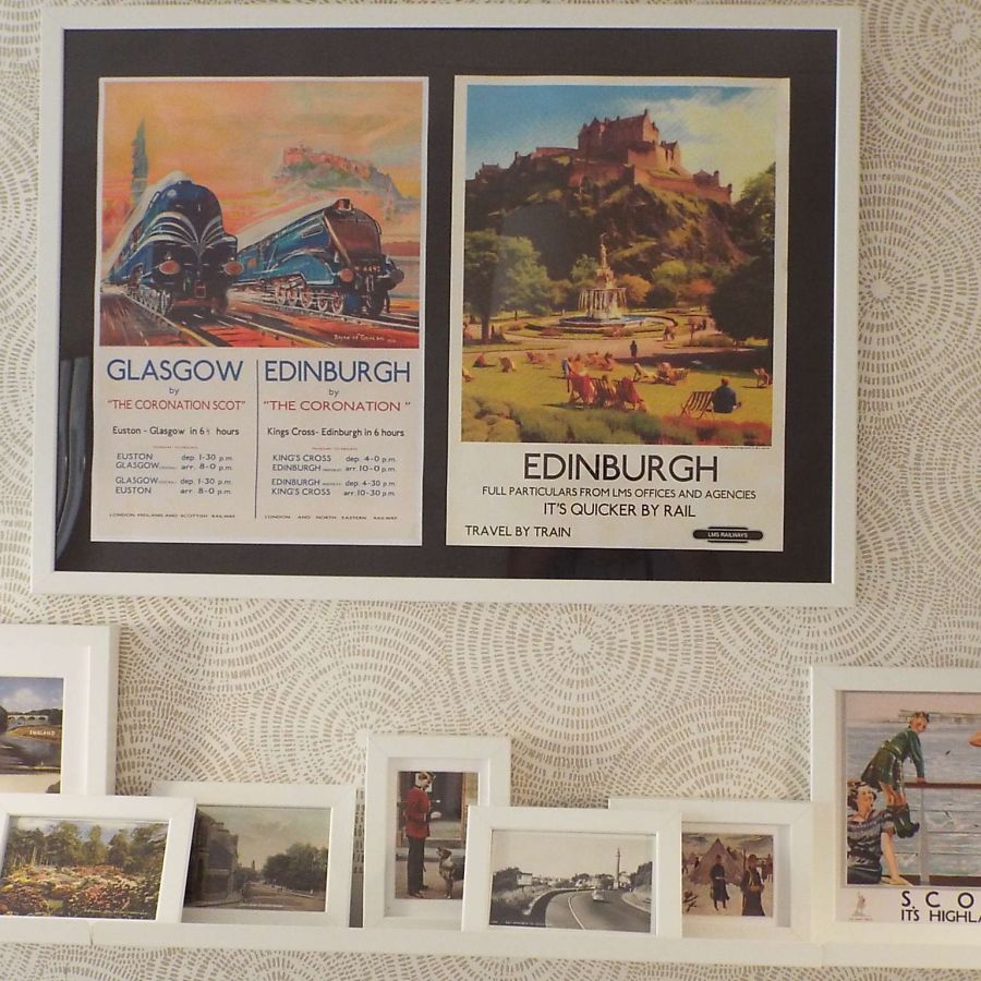 historic postcards are display