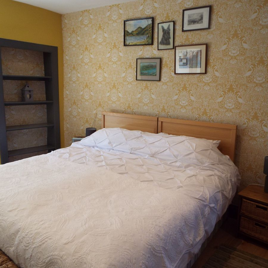 large bedroom with superking bed