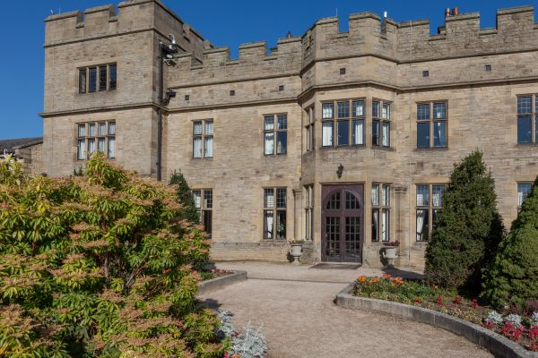 Slaley Hall exterior is near Northumbria Byways