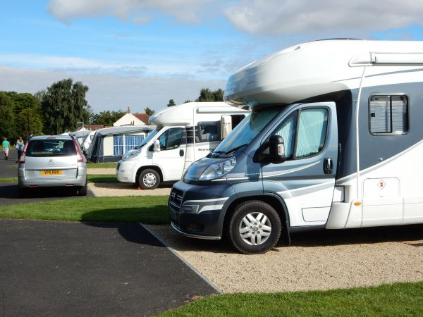 Motorhomes on Super Pitches