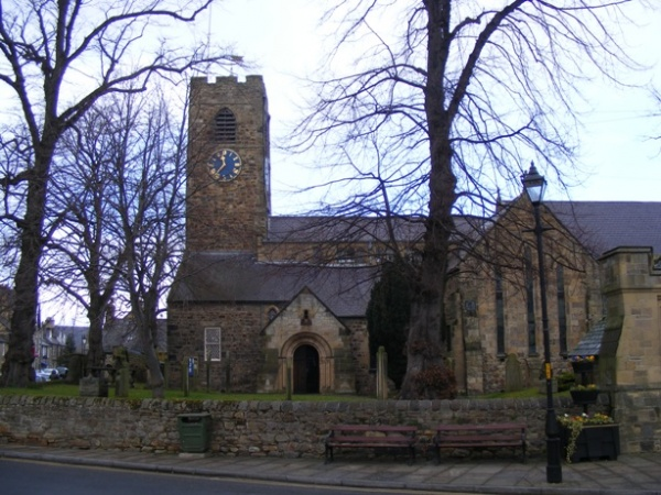 St Andrews Church in Corbridge is near Appletree Cottage