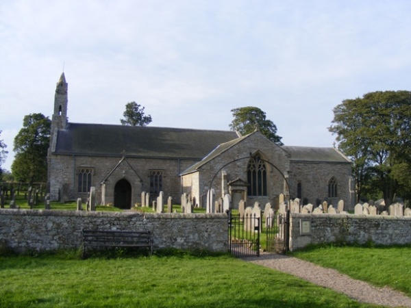 St Cuthberts Church in Elsdon is near Bertie's of Otterburn
