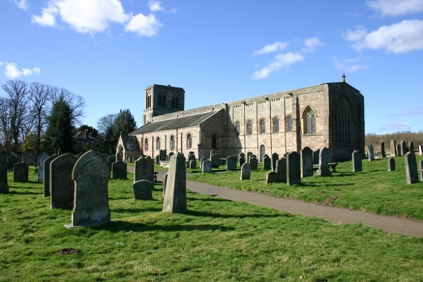 Outside St Cuthberts Church in Norham is near West Longridge Manor
