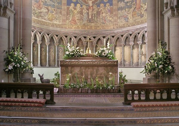 High Altar and Clayton & Bell Apse Paintings