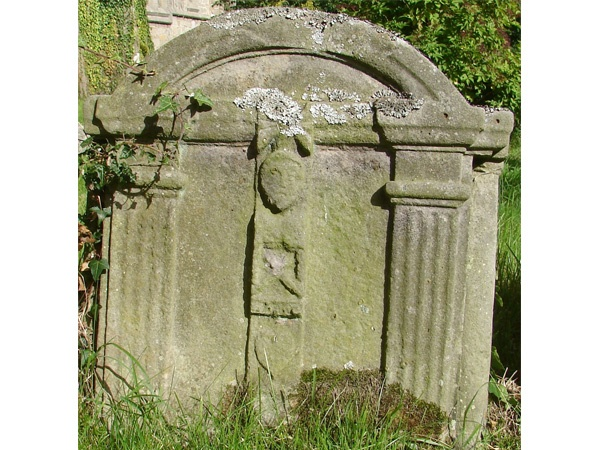 Listed 18th Century Tombstone is near Hunting Hall Shepherd's Hut