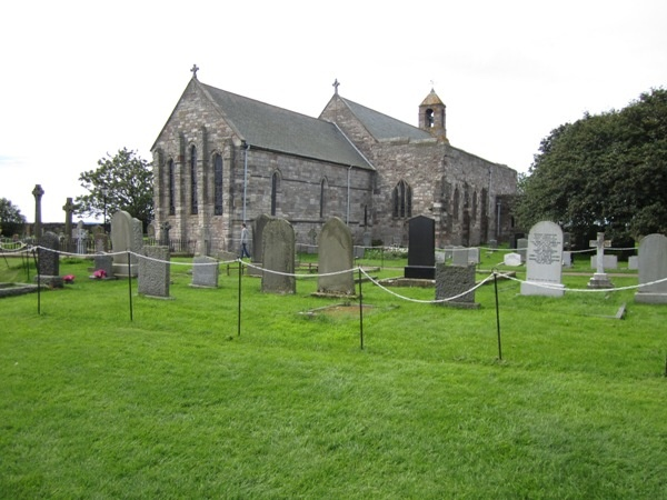 St Mary's Church and Churchyard at Holy Island is near Brock Mill Farmhouse