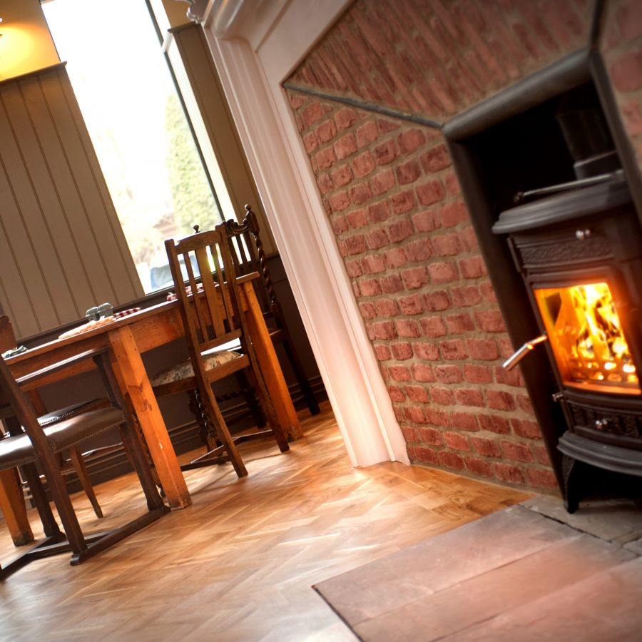 Wood-burning stoves at St Mary's