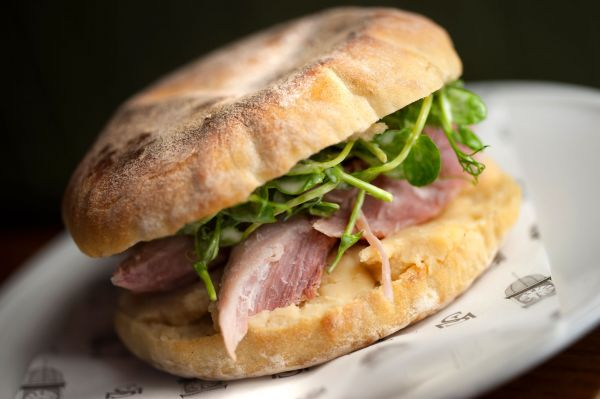 Ham and Pease Pudding Stottie