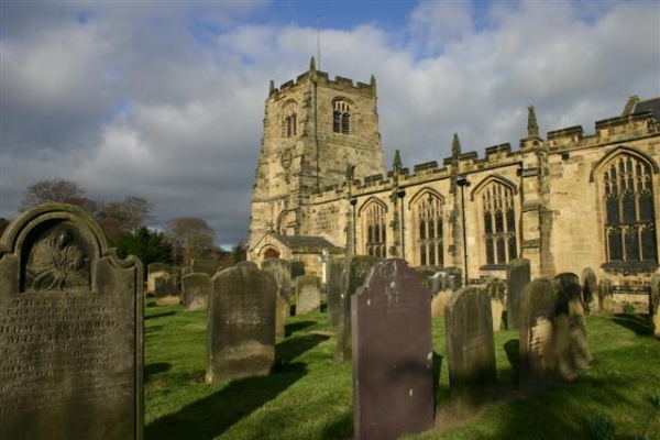 St Michaels Church in Alnwick is near Foxgloves