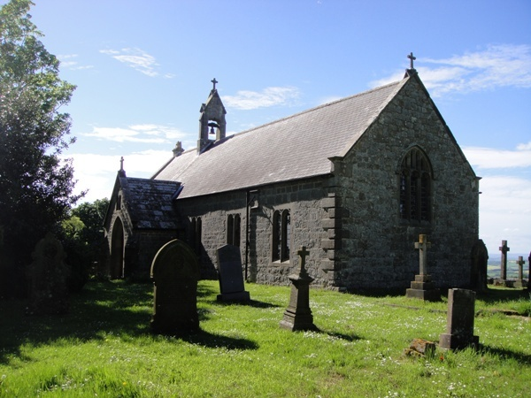 Sunny day at St Oswald's Church is near Loughbrow House