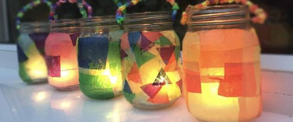 Stained Glass Lantern Making