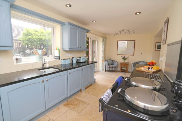 Star House, Rothbury - kitchen with aga cooker
