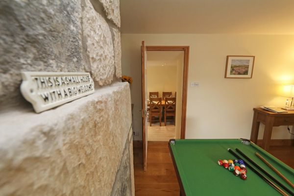 Star House, Rothbury - pool table