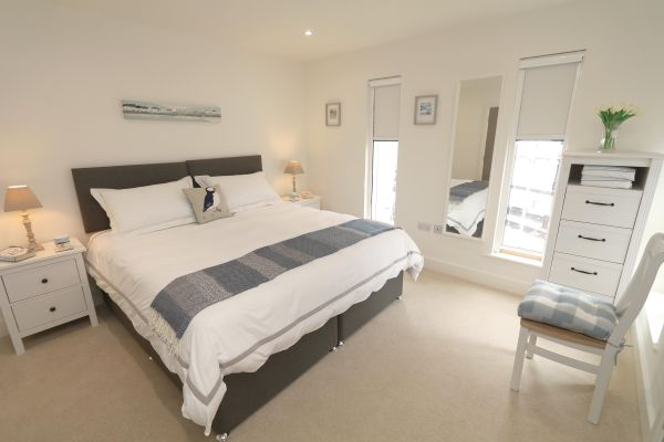 Still Waters,  Amble, master bedroom with ensuite