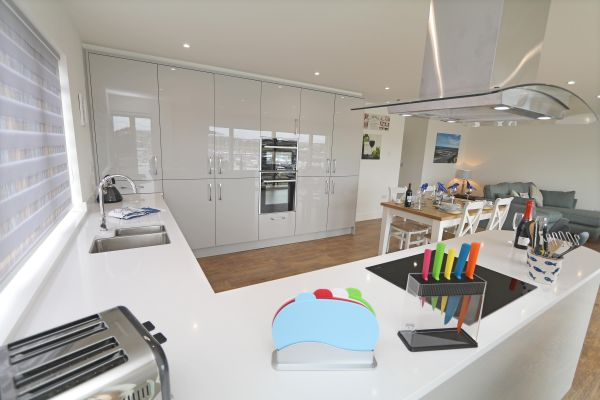 Still Waters, Amble, modern kitchen area