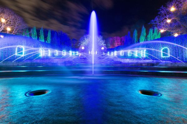 The Alnwick Garden Light Show