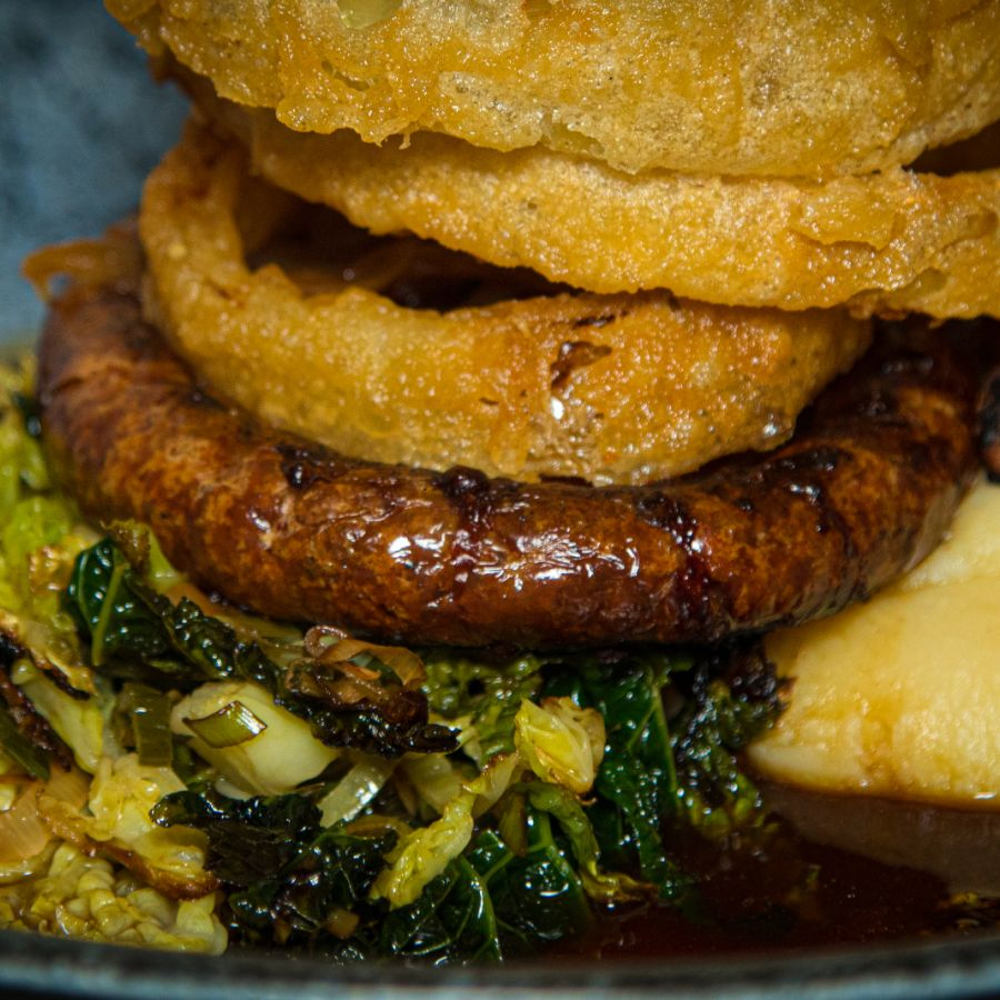 Our classic Sausage and Mash