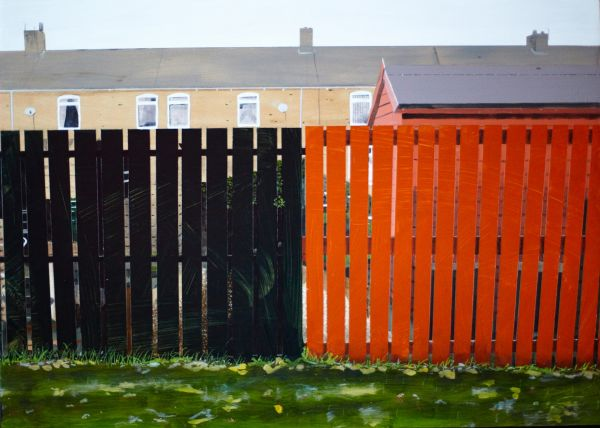 Untitled Fence Painting photographed by Colin Davison