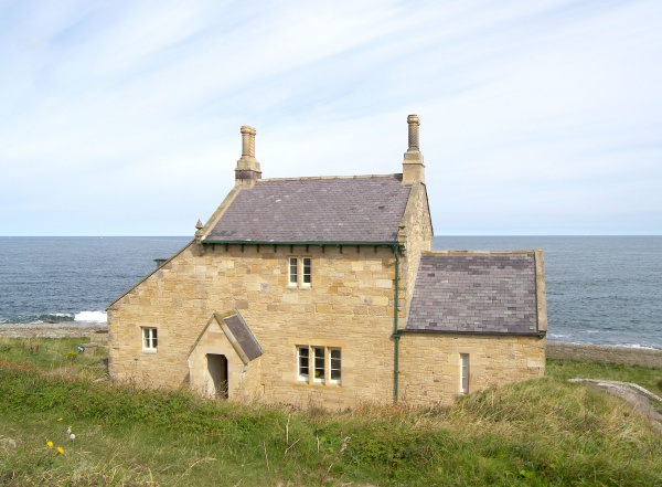 Outside The Bathing House in Howick is near Dunstanburgh Castle