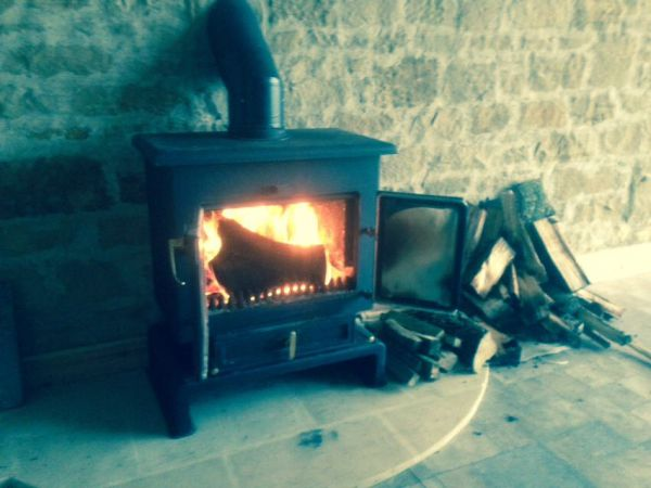 The Wood Burning Stove in the main living area