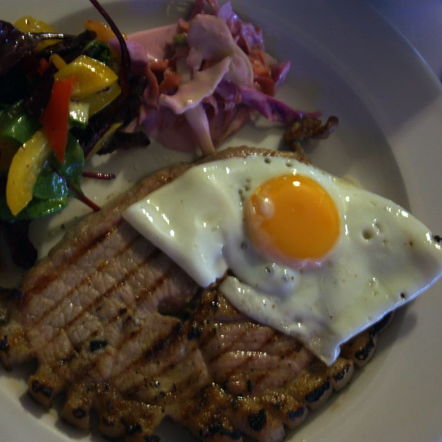 Gammon with Egg