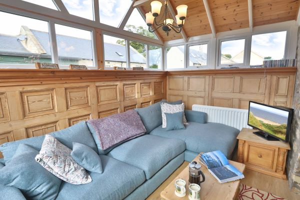 The Bothy, Longhoughton, cosy lounge area