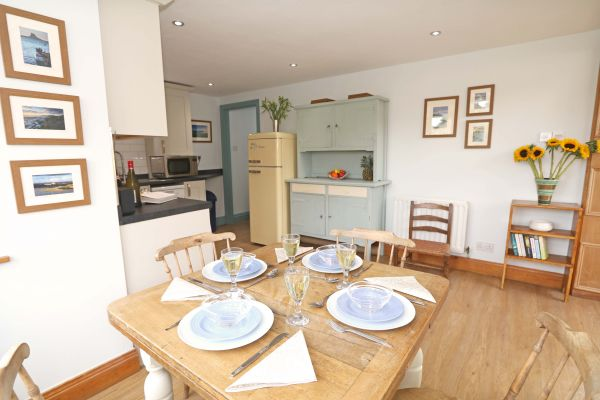 The Bothy, Longhoughton,view of kitchen from dining area