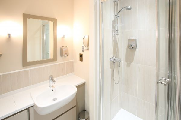 Bathrooms have shower or bath options