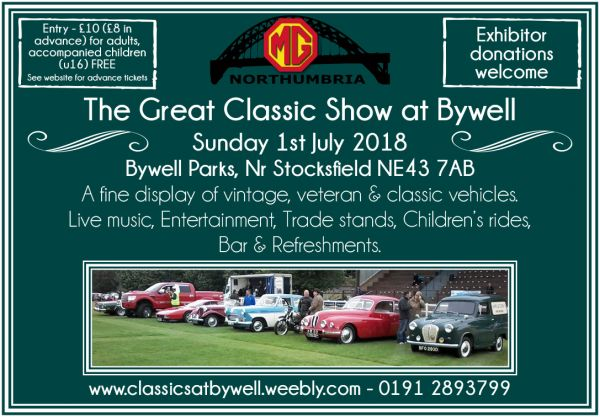 The Great Classic Show at Bywell