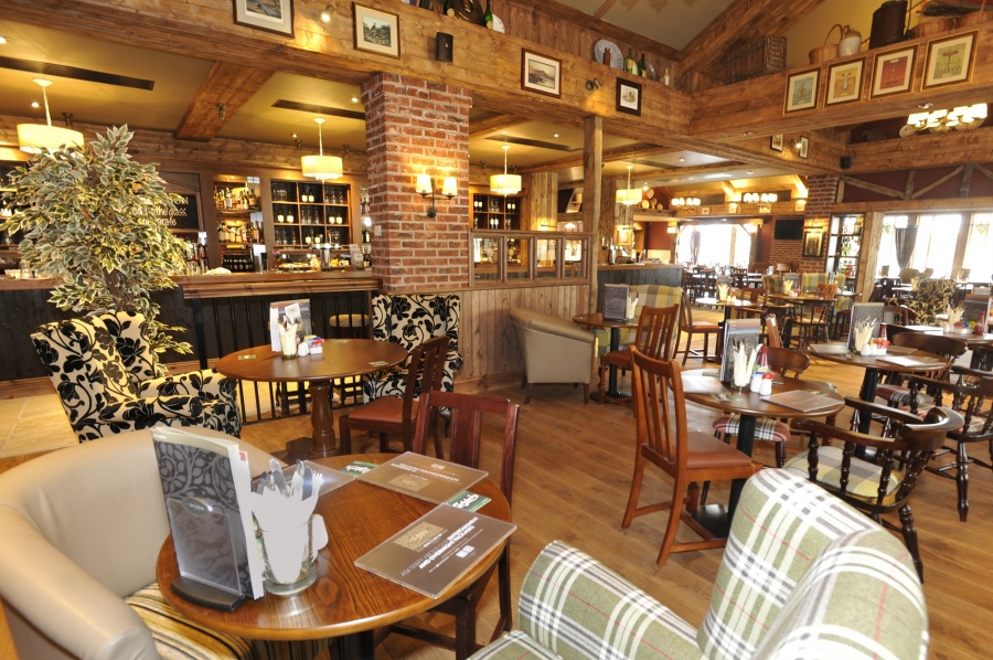 Restaurant area at The Hogs Head Inn