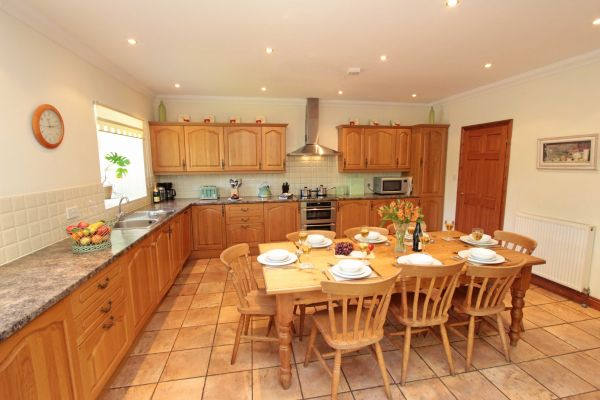 The Mill House, well equipped kitchen with large dining table