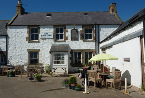 The Ship Inn Newton by the Sea is near St Cuthbert's House