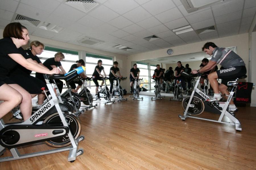 Spinning studio at Berwick Leisure Centre