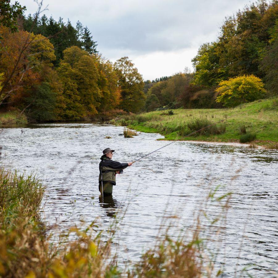 Fisherman on River Till