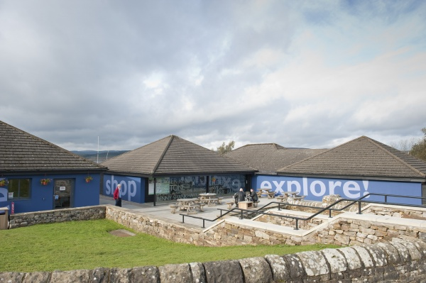 Outside Tower Knowe Visitor Centre is near Kielder Waterside