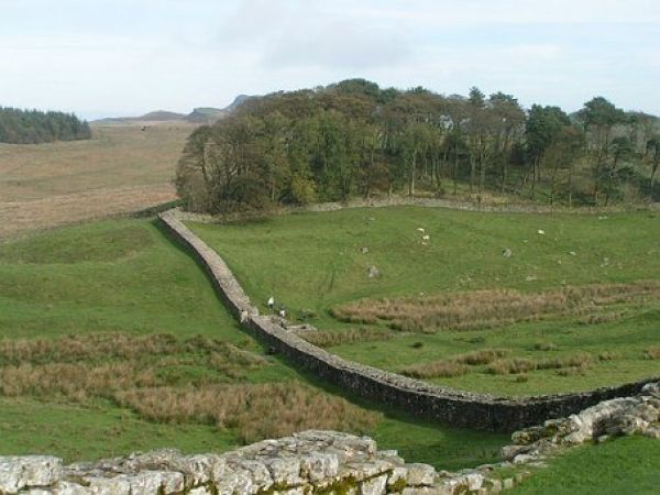 Hadrians Wall is near Seaton Delaval Hall