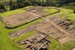 Vindolanda from the air is near Haydon Bridge Tourist Information Point