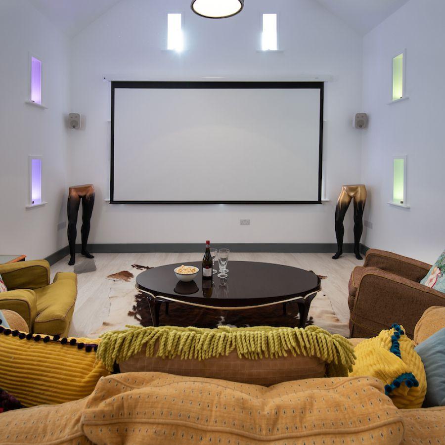 Walltown Byre - cinema screen