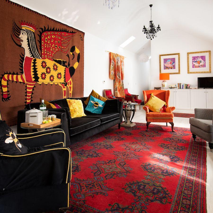 Walltown Byre - open plan living space