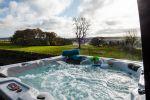 Walltown Byre - hot tub view