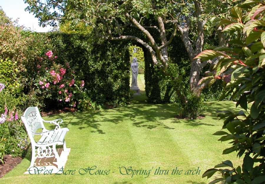 West Acre House - the lawn