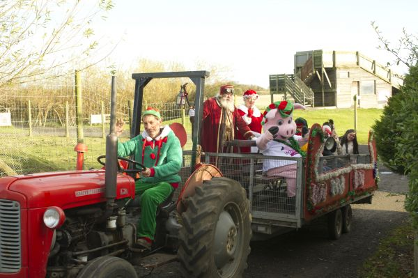 Have a ride on the Festive Tractor & Trailer
