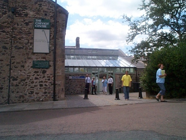 Outside Wooler Tourist Information Centre