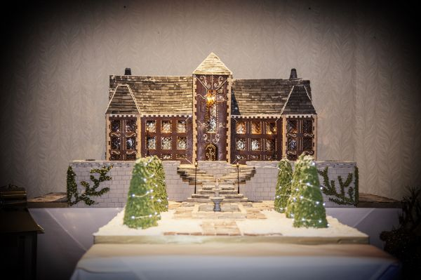 Slaley Hall reveals festive gingerbread replica