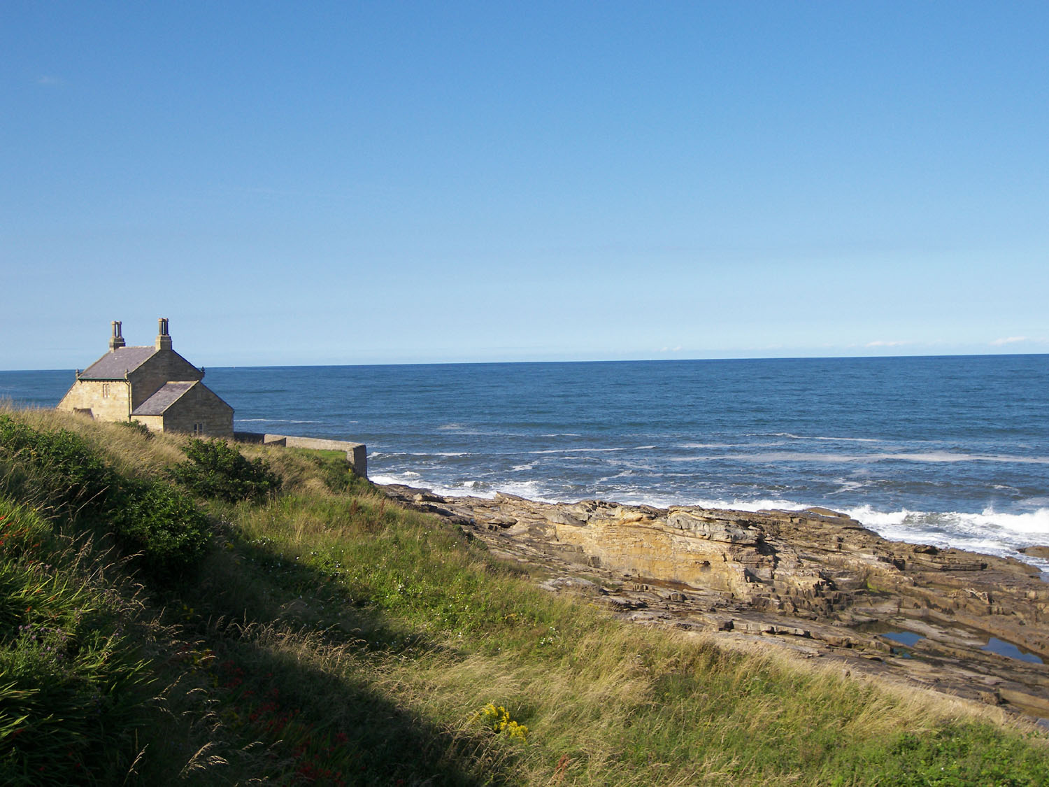A view of The Bathing House at Howick