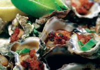 Grilled Lindisfarne Oysters