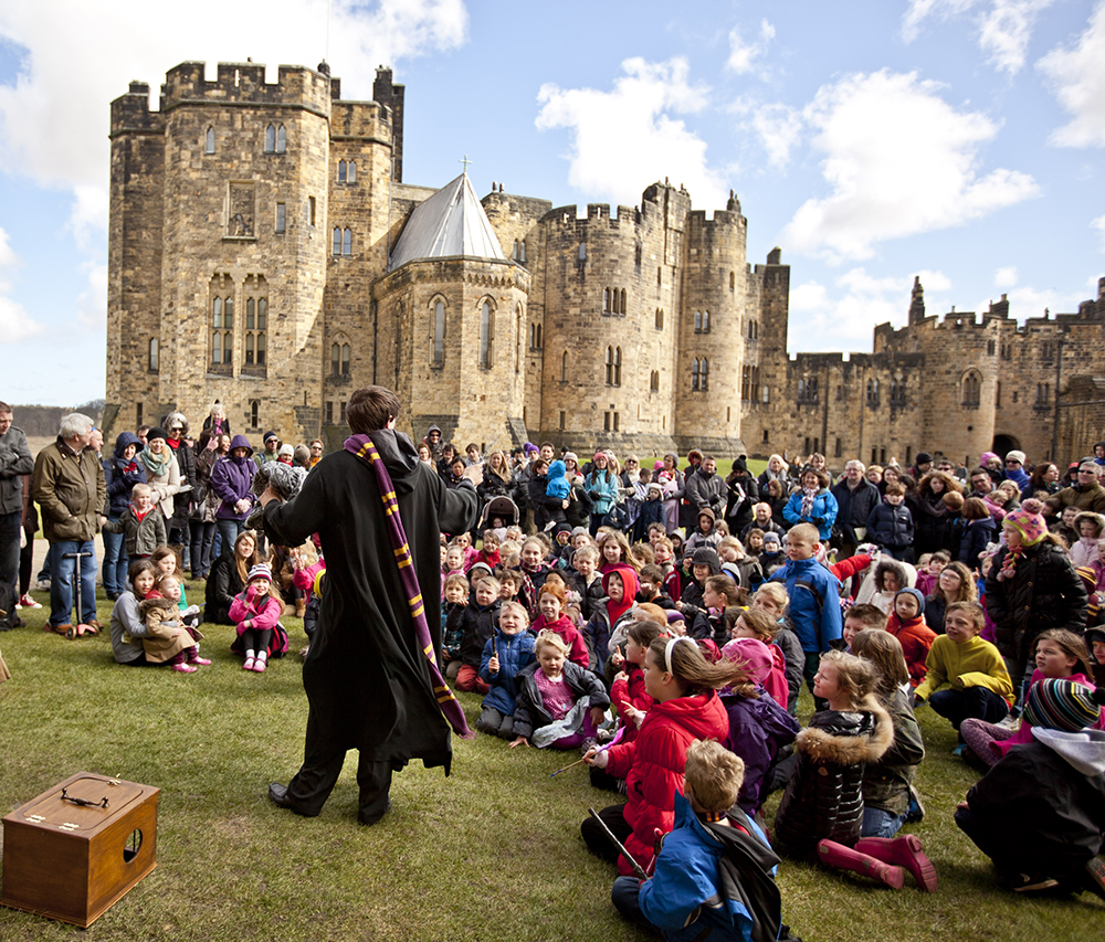 Broomstick lessons at Alnwick Castle