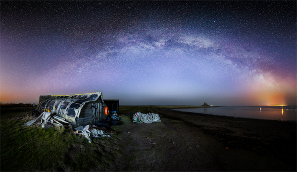 Milky Way over the Holy Island of Lindisfarne, credit Craig Richards