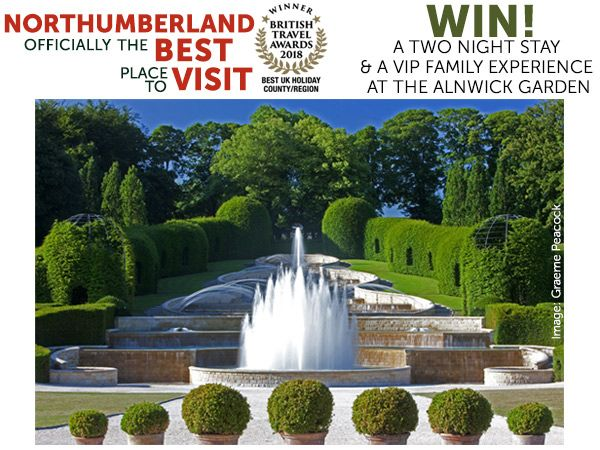 WIN a 2 night stay & a VIP family experience at The Alnwick Garden