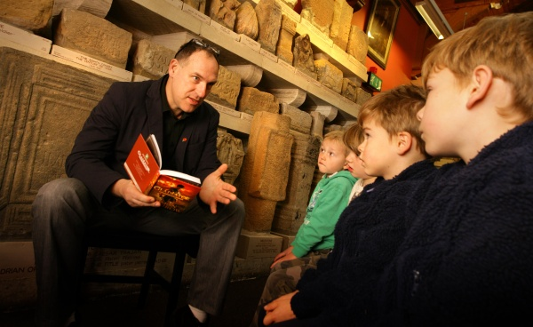 Bestselling author visits Chester Roman Fort
